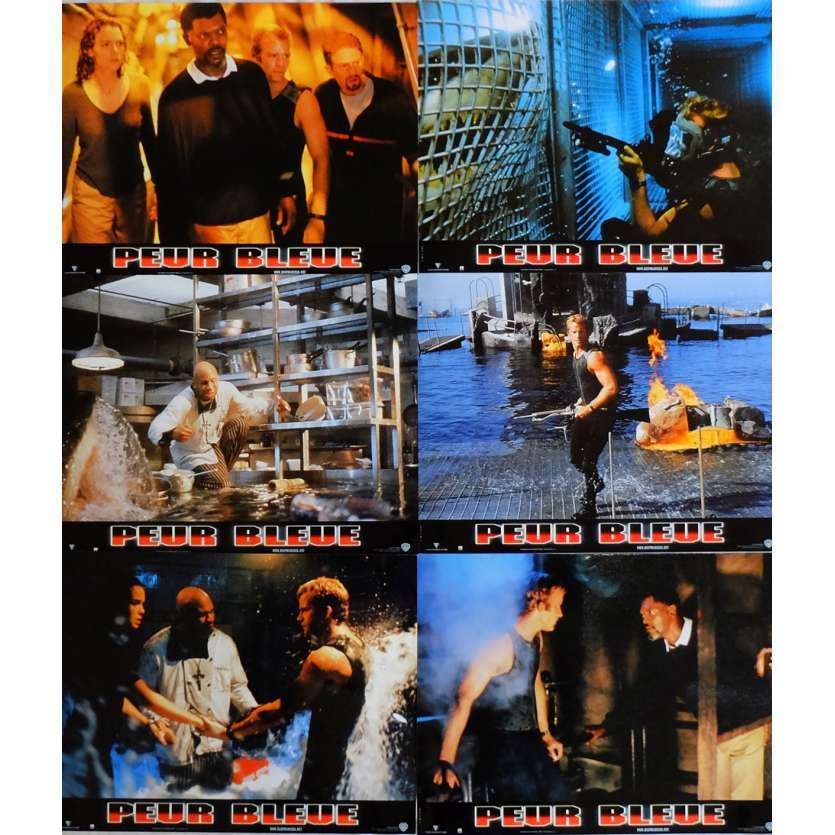 DEEP BLUE SEA Lobby Cards x6 9x12 in. French - 1999 - Renny Harlin, Thomas Jane