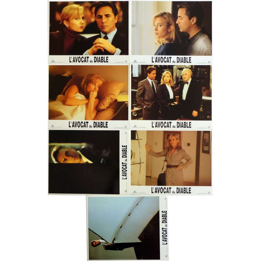 DEVIL'S ADVOCATE Lobby Cards x7 9x12 in. French - 1997 - Taylor Hackford, Al Pacino