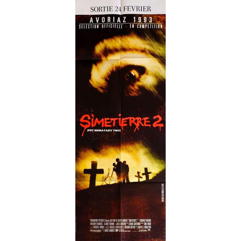 PET SEMETARY TWO Movie Poster 23x63 in. French - 1992 - Mary Lambert, Edward Furlong