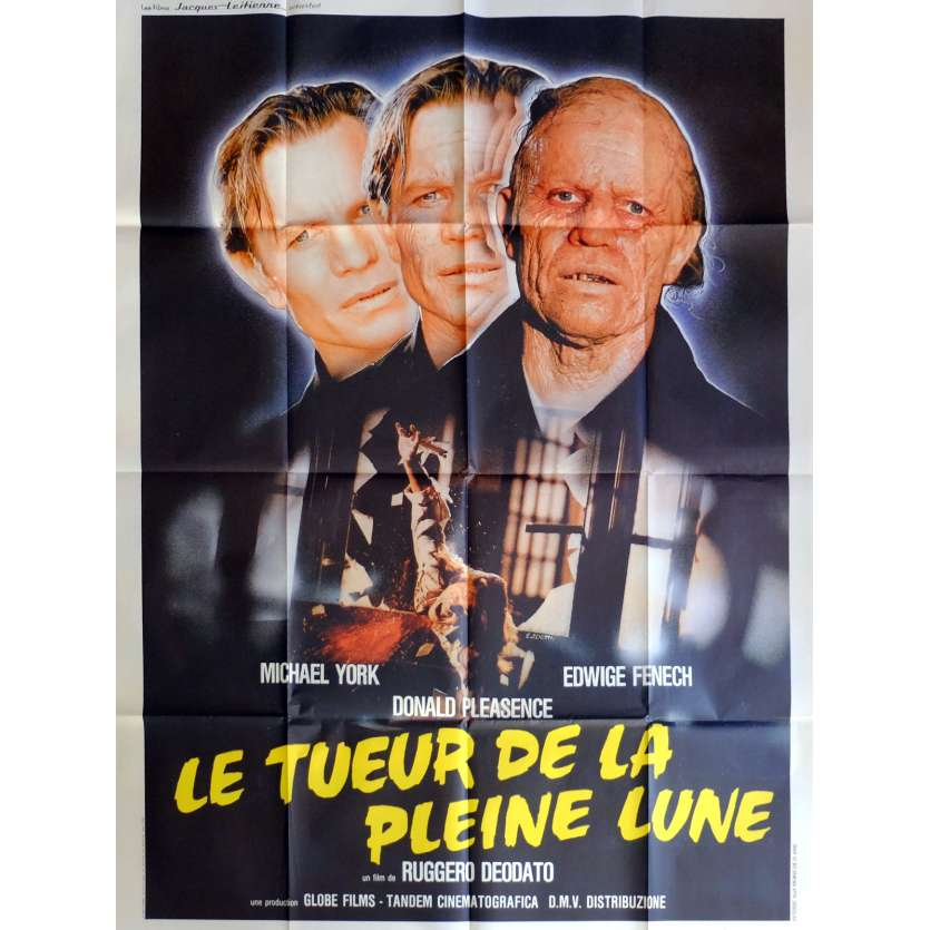 LE TUEUR DE LA PLEINE LUNE Affiche de film 120x160 cm - 1988 - Michael York, Ruggero Deodato