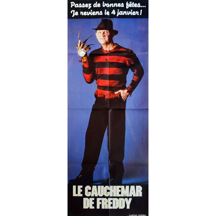 THE DREAM MASTER Movie Poster 23x63 in. French - 1988 - Renny Harlin, Robert Englund