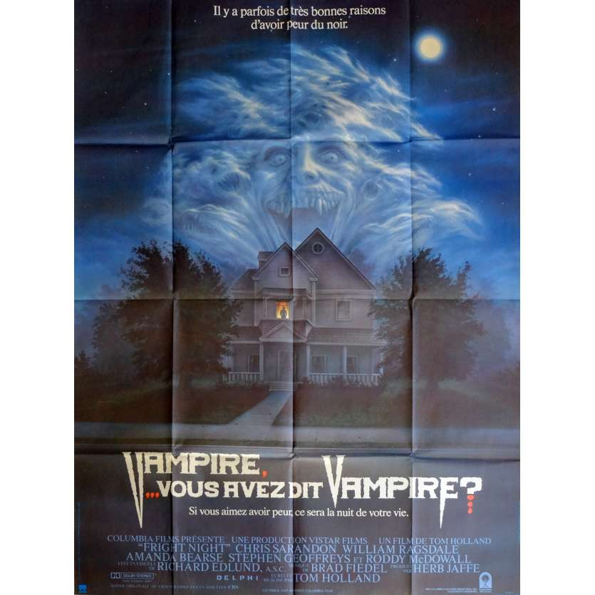FRIGHT NIGHT Movie Poster 47x63 in. French - 1985 - Tom Holland, Chris Sarandon