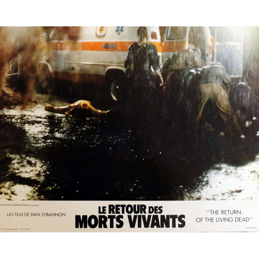 THE RETURN OF THE LIVING DEAD Lobby Cards N7 11x14 in. French - 1985 - Dan O'Bannon, Clu Gulager