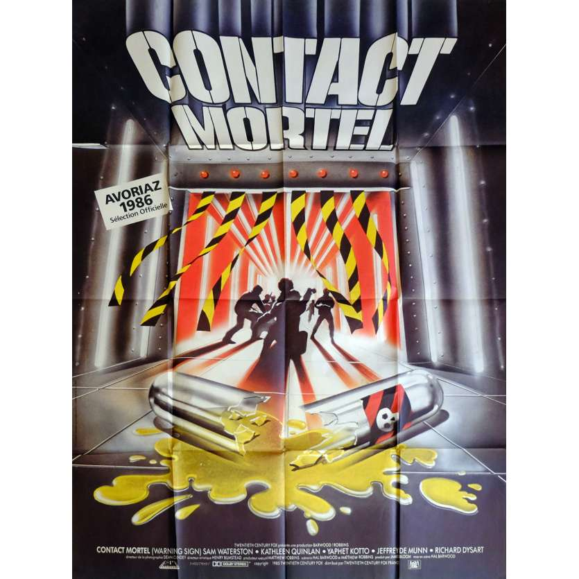 WARNING SIGN Movie Poster 47x63 in. French - 1985 - Hal Barwood, Sam Waterston