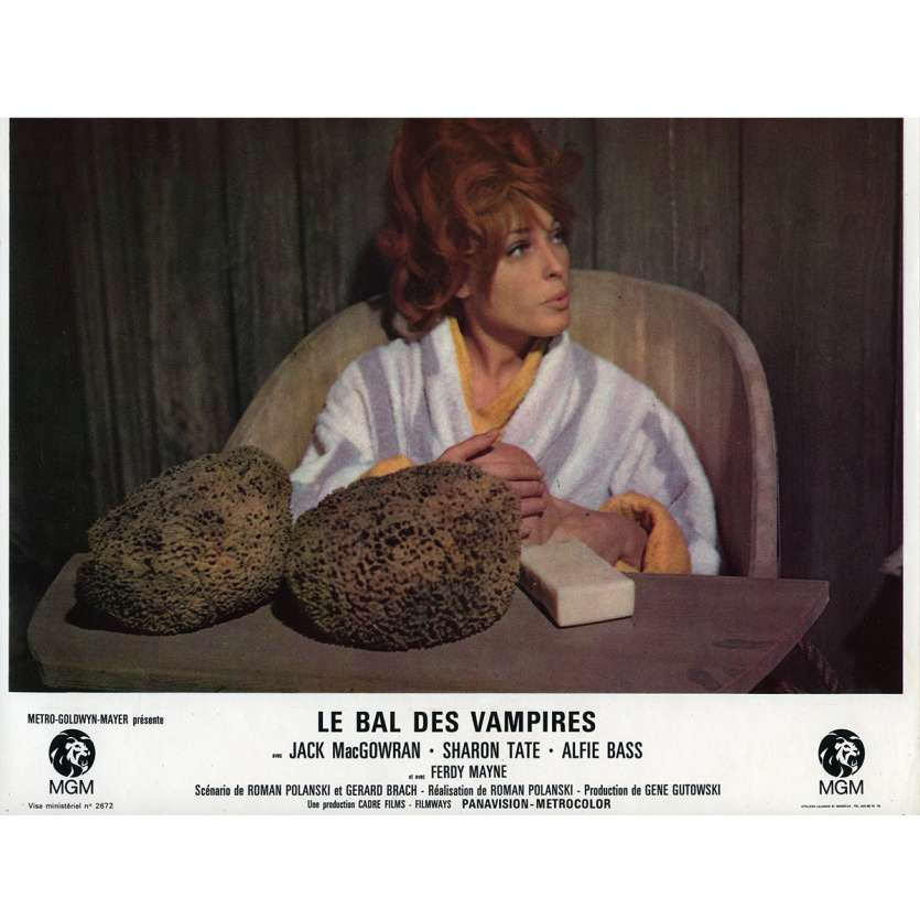 THE FEARLESS VAMPIRE KILLERS Lobby Card N1 9x12 in. French - 1967 - Roman Polanski, Sharon tate