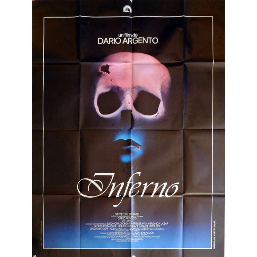 INFERNO Movie Poster 47x63 in. French - 1980 - Dario Argento, Leigh McCloskey