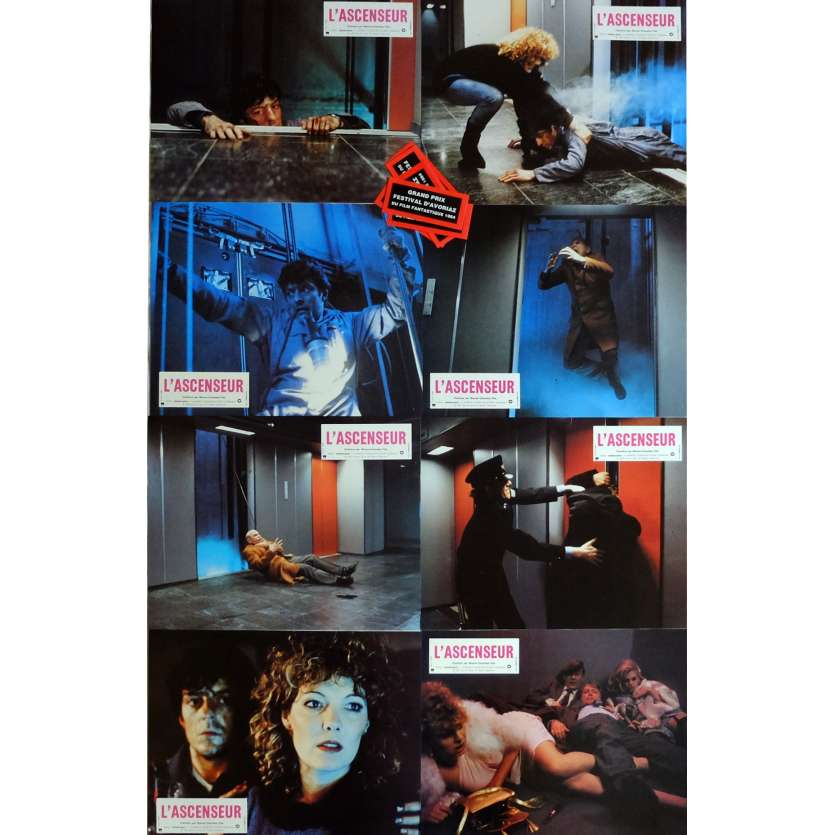 THE LIFT Lobby Cards x8 9x12 in. French - 1983 - Dick Maas, Huub Stapel
