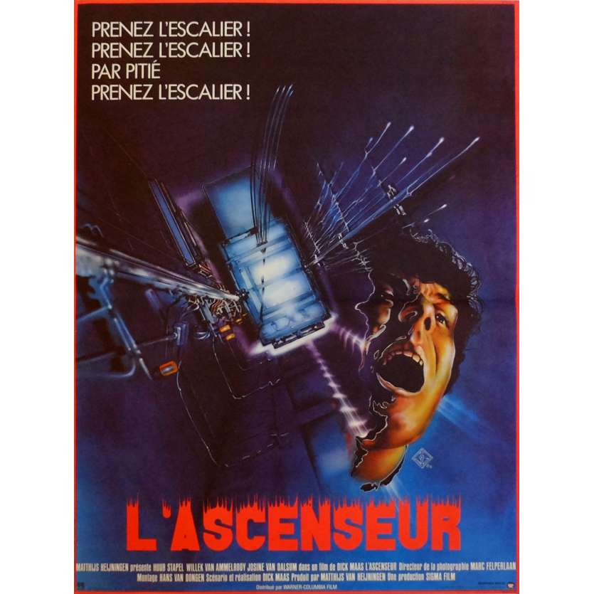 THE LIFT Movie Poster 15x21 in. French - 1983 - Dick Maas, Huub Stapel