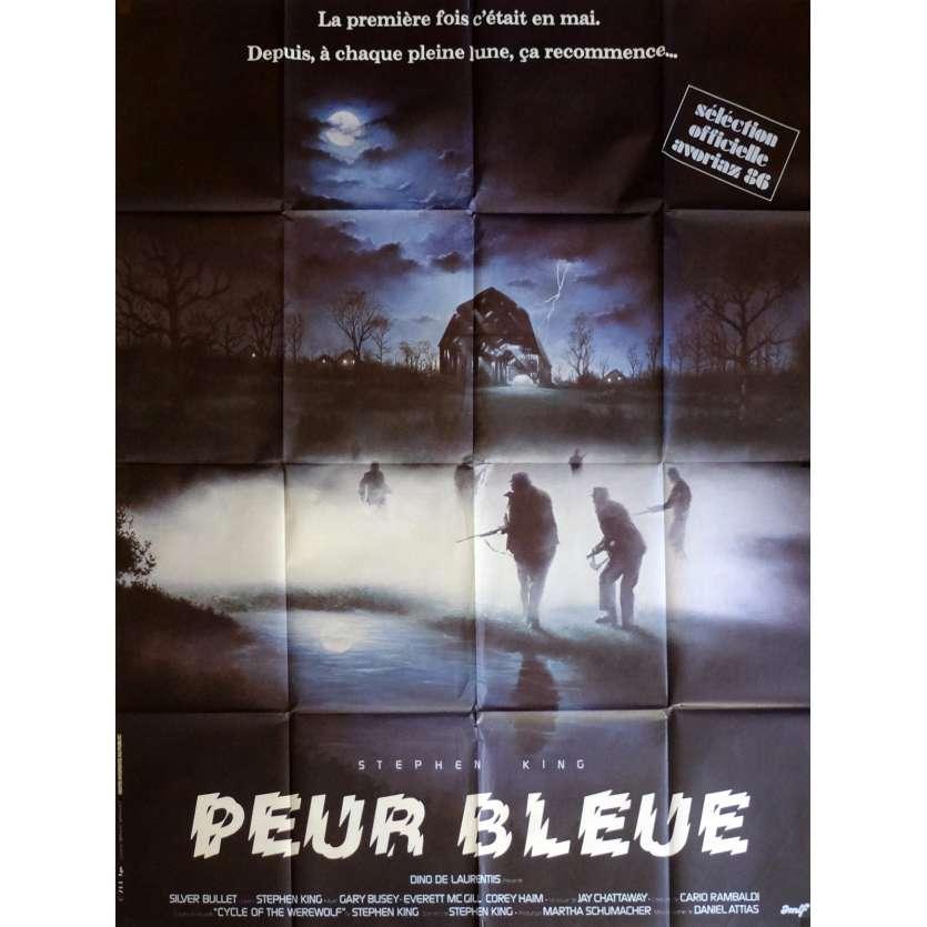 PEUR BLEUE Affiche de film 120x160 cm - 1984 - Gary Busey, Daniel Attias