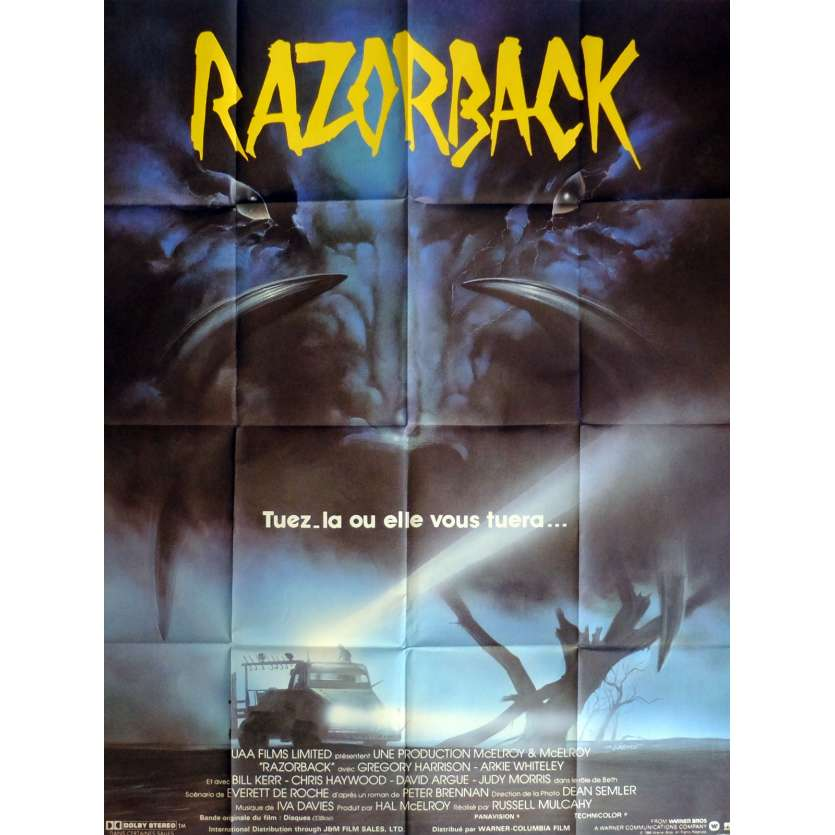 RAZORBACK Affiche de film 120x160 cm - 1984 - Gregory Harrison, Russel Mulcahy