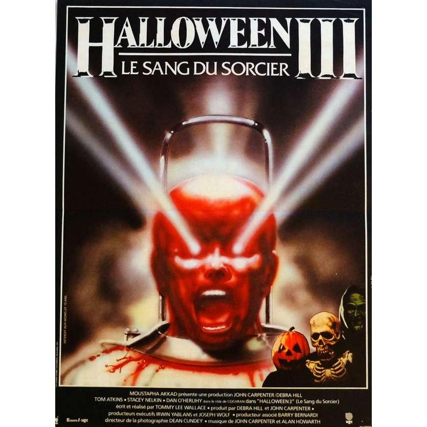 HALLOWEEN 3 Affiche de film 40x60 cm - 1982 - Tom Atkins, Tommy Lee Wallace