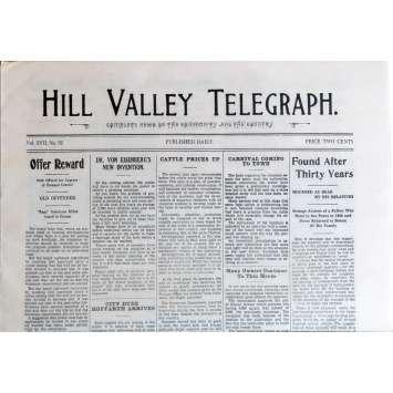 RETOUR VERS LE FUTUR 3 Réplique EXACTE du Journal ! Hill Valley