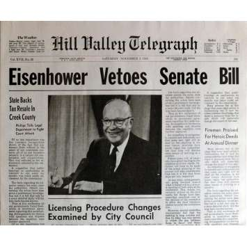 BACK TO THE FUTURE Newspaper Prop - Eisenower