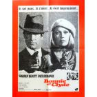 BONNIE AND CLYDE Movie Poster  23x32 in. French - 1967 - Arthur Penn, Warren Beatty