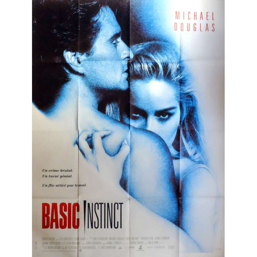 BASIC INSTINCT Movie Poster 47x63 in. French - 1992 - Paul Verhoeven, Sharon Stone