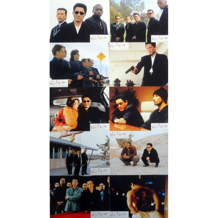BROTHER Lobby Cards x10 9x12 in. French - 2000 - Takeshi Kitano, Omar Epps