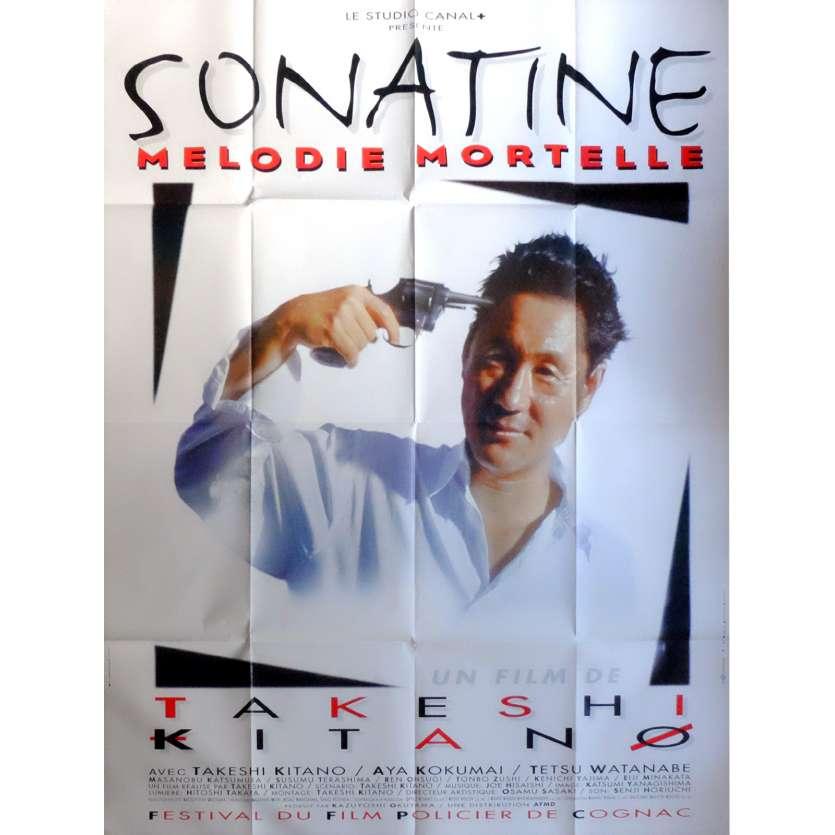 SONATINE Movie Poster 47x63 in. French - 1993 - Takeshi Kitano, Aya Kokumai