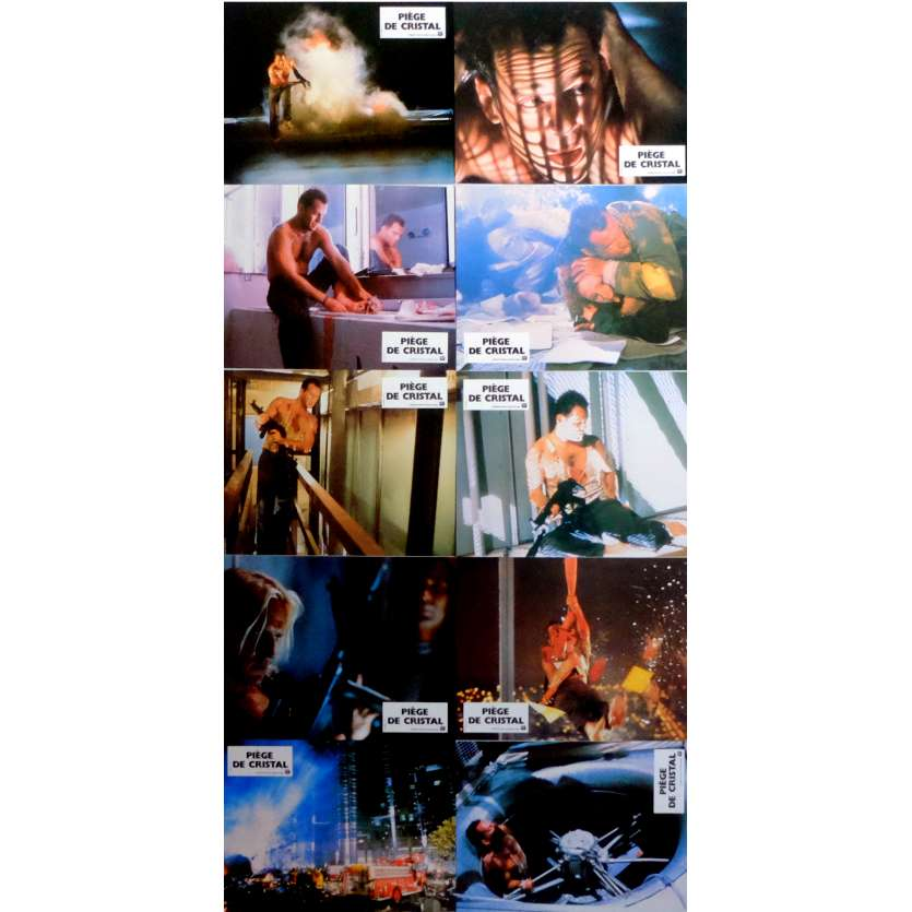 DIE HARD Lobby Cards x10 9x12 in. French - 1988 - John McTiernan, Bruce Willis