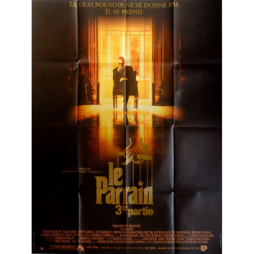THE GODFATHER III Movie Poster 47x63 in. French - 1990 - Francis Ford Coppola, Al Pacino