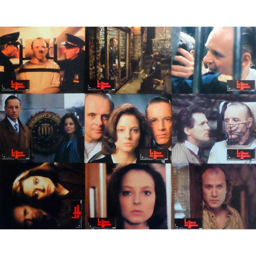 THE SILENCE OF THE LAMBS Lobby Cards x9 9x12 in. French - 1991 - Jonathan Demme, Anthony Hopkins