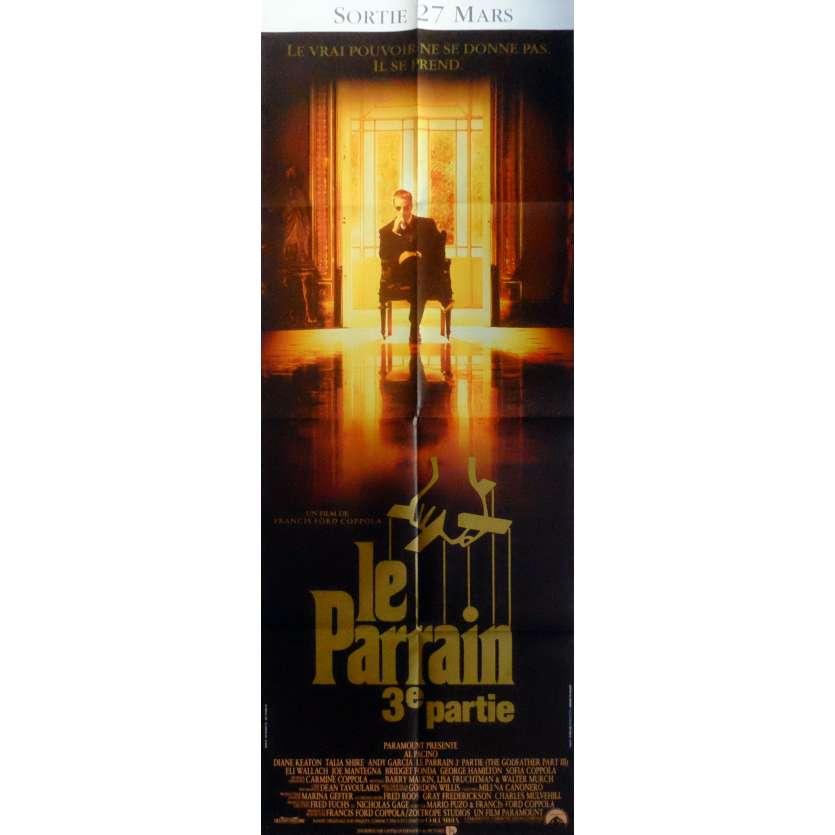 LE PARRAIN 3 Affiche de film 60x160 cm - 1990 - Al Pacino, Francis Ford Coppola