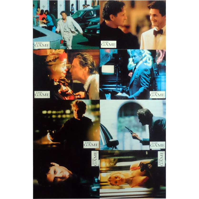 THE GAME Lobby Cards x8 9x12 in. French - 1997 - David Fincher, Michael Douglas