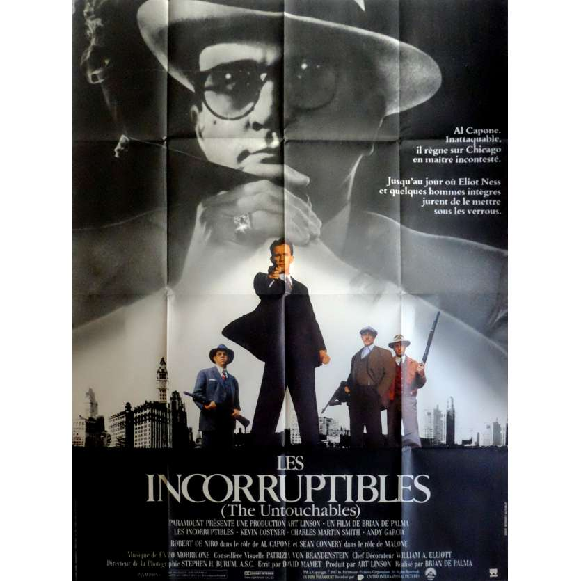 THE UNTOUCHABLES French Movie Poster 47x63 - 1987 - Brian de Palma, Kevin Costner
