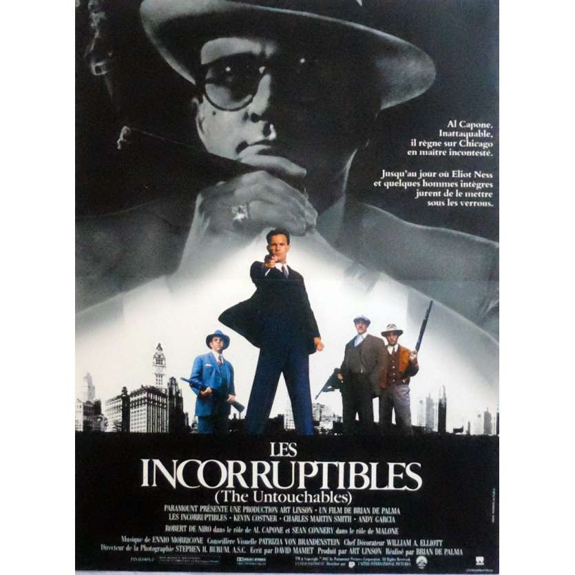 THE UNTOUCHABLES French Movie Poster 15x21 - 1987 - Brian de Palma, Kevin Costner