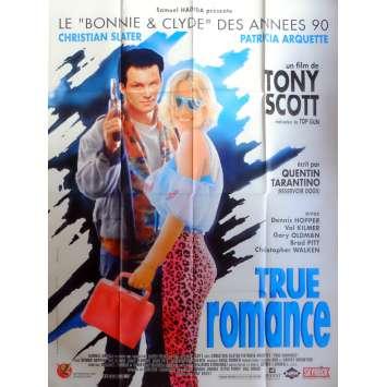 TRUE ROMANCE Affiche de film 120x160 - 1993 - Tony Scott, Quentin Tarantino