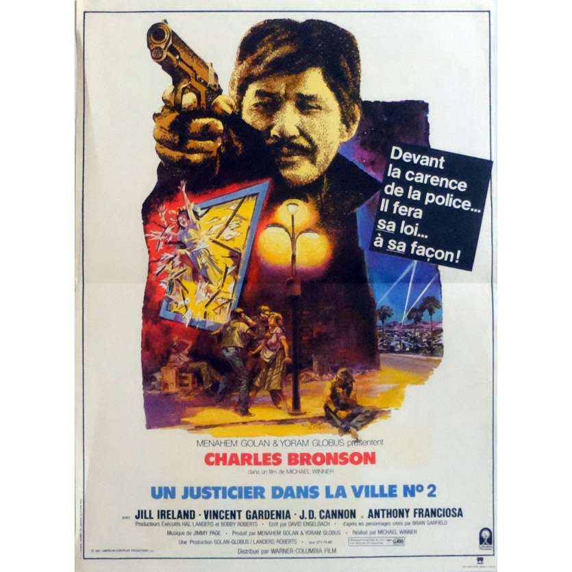 'DEATH WISH 2 French Movie Poster 15x21 ''82 Charles Bronson'