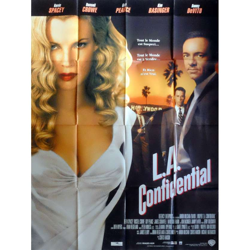 L.A. CONFIDENTIAL French Movie Poster 47x63- 1997 - Curtis Hanson, Kevin Spacey