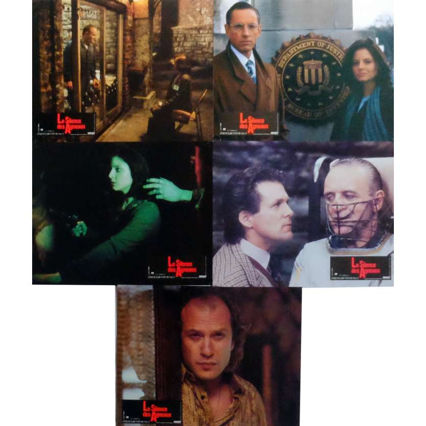 THE SILENCE OF THE LAMBS Lobby Cards x5 9x12 in. French - 1991 - Jonathan Demme, Anthony Hopkins