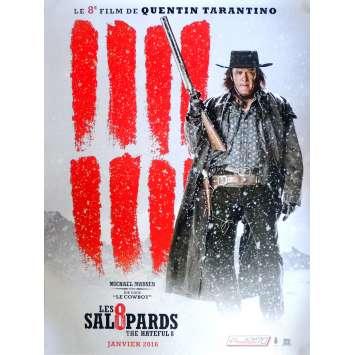 LES 8 SALOPARDS Affiche de film Adv. Mod. A 120x160 cm - 2015 - Kurt Russel, Quentin Tarantino