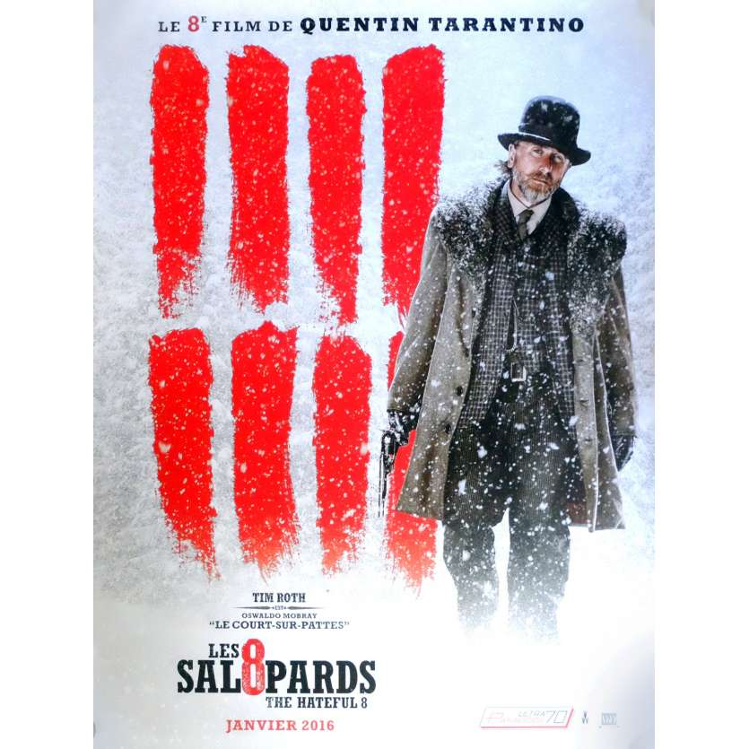 LES 8 SALOPARDS Affiche de film Adv. Mod. B 40x60 cm - 2015 - Kurt Russel, Quentin Tarantino