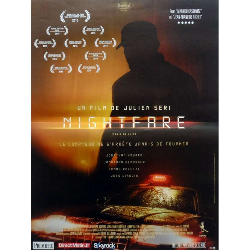 NIGHT FARE Movie Poster 15x21 in. French - 2015 - Julien Seri, Jonathan Howard