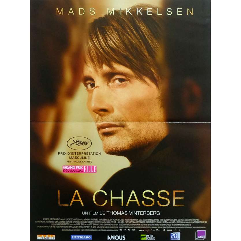 THE HUNT Movie Poster 15x21 in. French - 2012 - Thomas Vinterberg, Mads Mikkelsen
