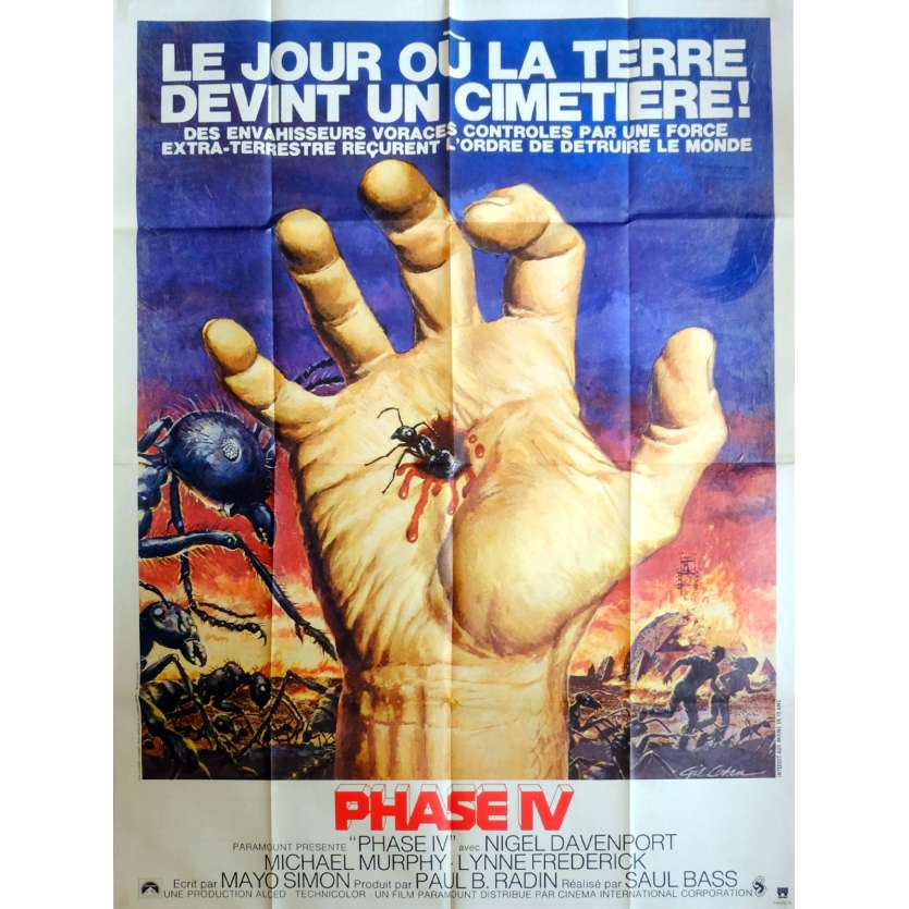 PHASE IV Movie Poster 47x63 '74 Saul Bass