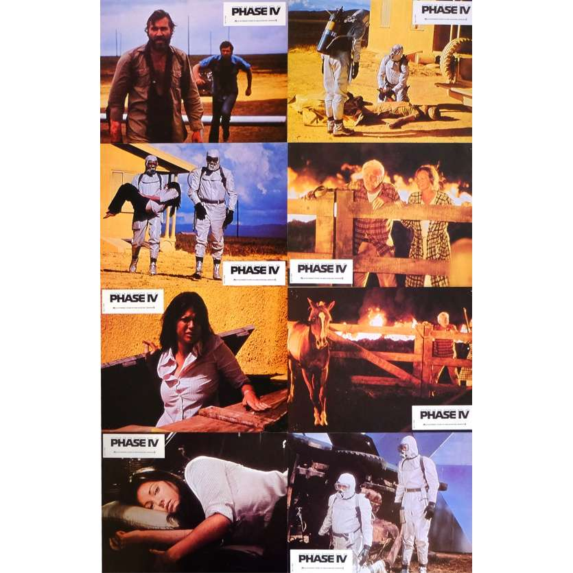 PHASE IV French Lobby Cards 9x12 '74 x12 Saul Bass