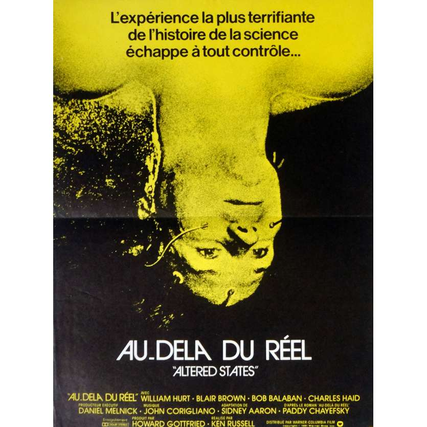 AU DELA DU REEL Affiche 40x60 FR '81 William Hurt