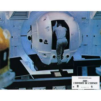 2001 A SPACE ODYSSEY Lobby Card N6 9x12 in. French - 1970 - Stanley Kubrick, Keir Dullea