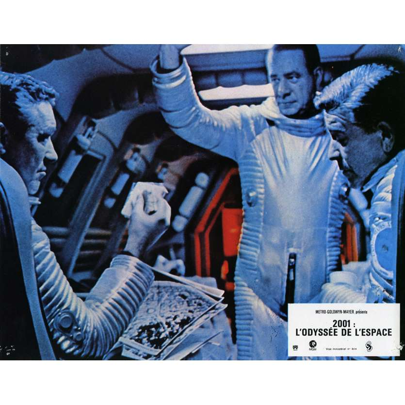 2001 A SPACE ODYSSEY Lobby Card N8 9x12 in. French - 1970 - Stanley Kubrick, Keir Dullea
