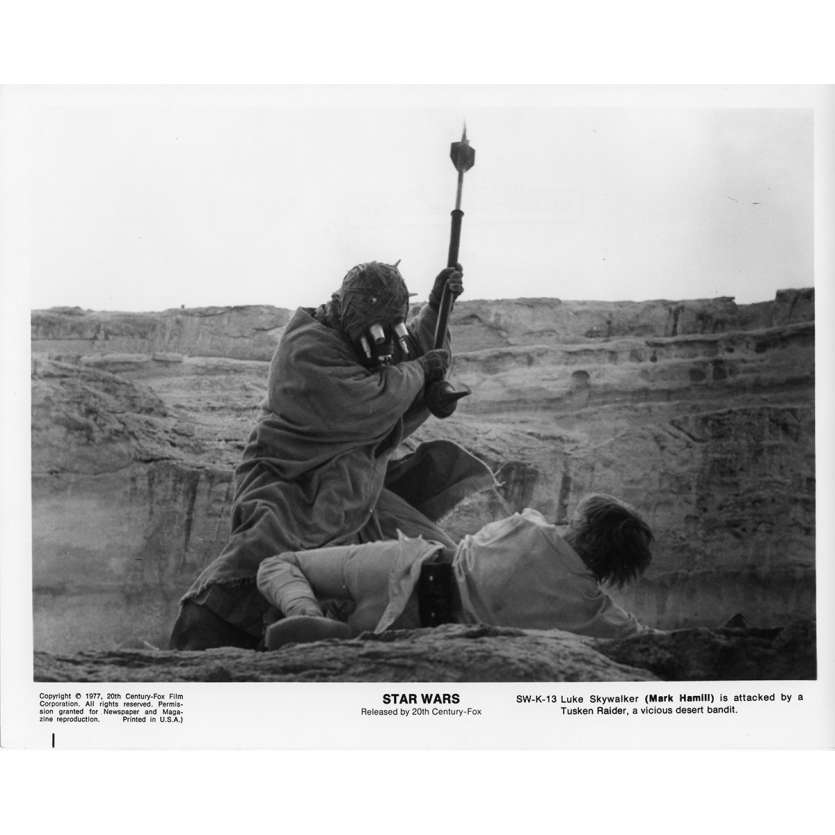 STAR WARS - LA GUERRE DES ETOILES Photo de presse SW-K-13 20x25 cm - 1977 - Harrison Ford, George Lucas