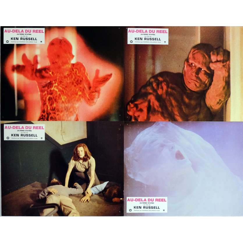 ALTERED STATES Lobby Cards x4 9x12 in. French - 1980 - Ken Russel, William Hurt