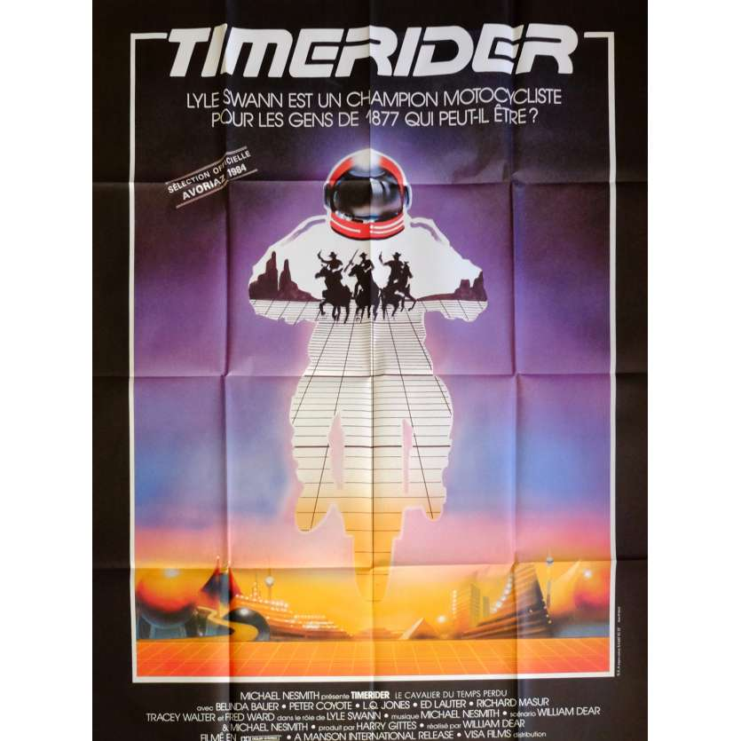 TIMERIDER Movie Poster 47x63 in. French - 1982 - William Dear, Fred Ward