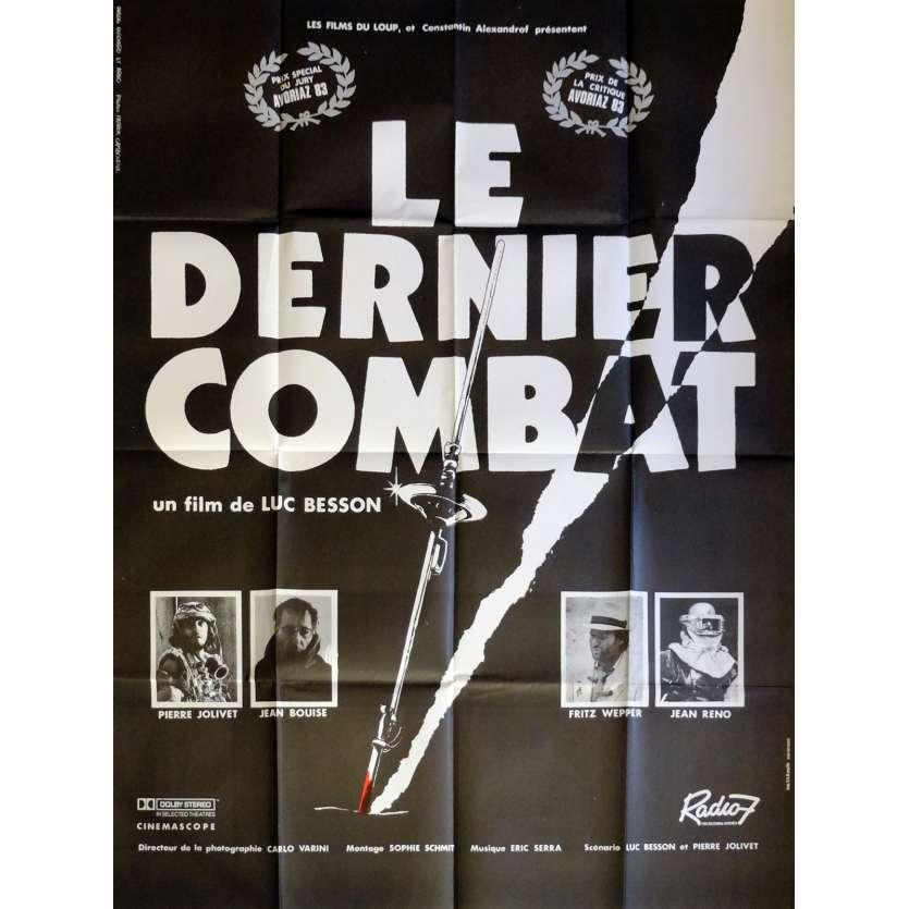 LE DERNIER COMBAT Affiche de film 120x160 cm - 1983 - Jean Reno, Luc Besson