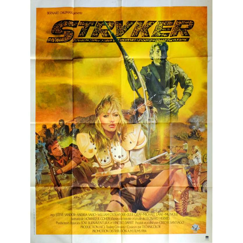 STRYKER Movie Poster 47x63 in. French - 1983 - Cirio H. Santiago, Steve Sandor