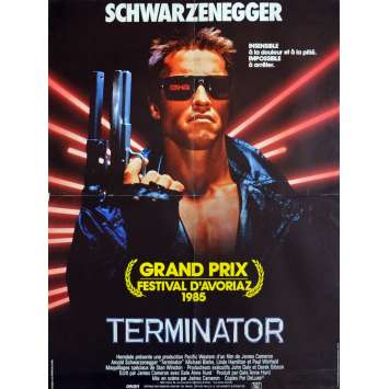TERMINATOR Movie Poster 23x32 in. French - 1983 - James Cameron, Arnold Schwarzenegger