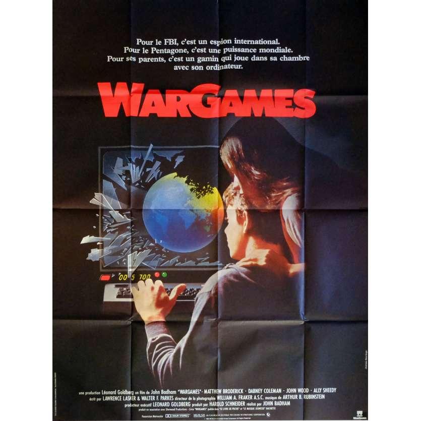 WAR GAMES Affiche de film 120x160 cm - 1983 - Matthew Broderick, John Badham