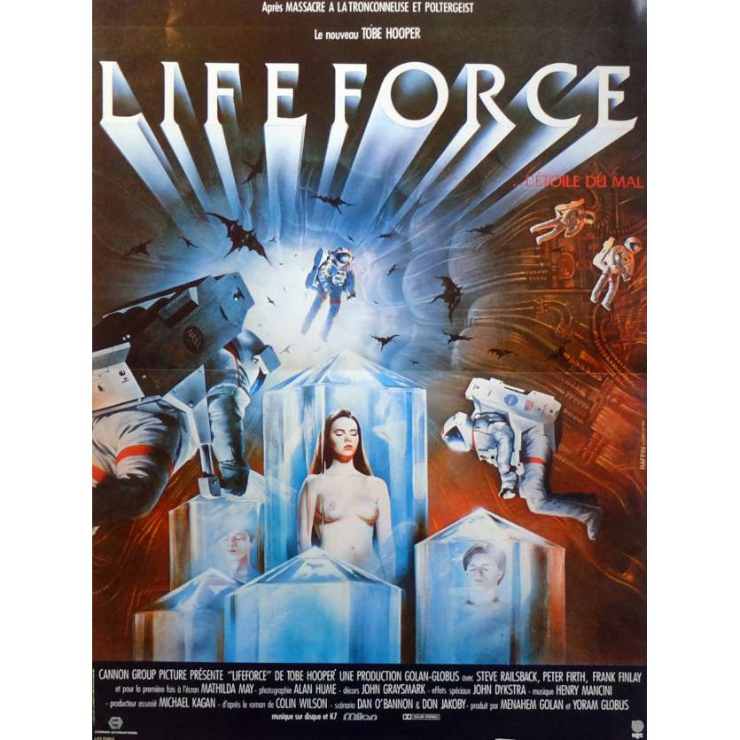 LIFEFORCE Movie Poster 15x21 in. French - 1985 - Tobe Hooper, Mathilda May