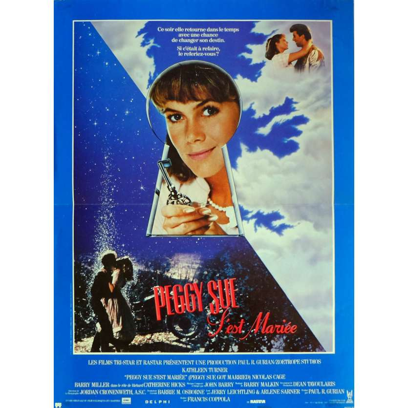 PEGGY SUE GOT MARRIED Movie Poster 15x21 in. French - 1986 - Francis Ford Coppola, Kathleen Turner